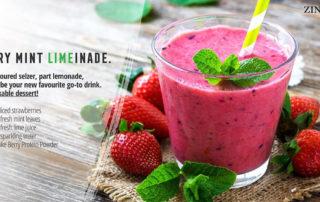 Zinzino Berry Mint LIMEinade - Drinkable Dessert