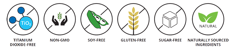 Zinzino Zinogene: non gmo, soy free, gluten free, sugar free, titanium dioxide free